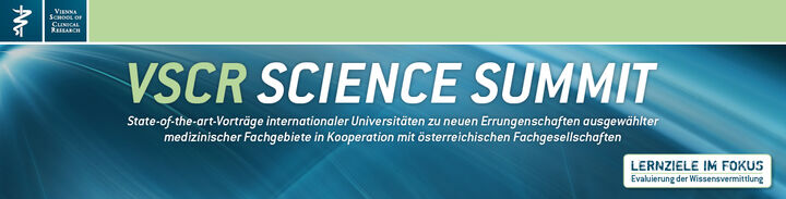 Erster Kongress der Vienna School of Clinical Research ein voller Erfolg