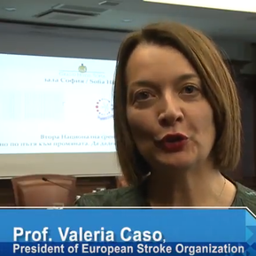 Prof. Valeria Caso about the aim of the European Stroke Organisation