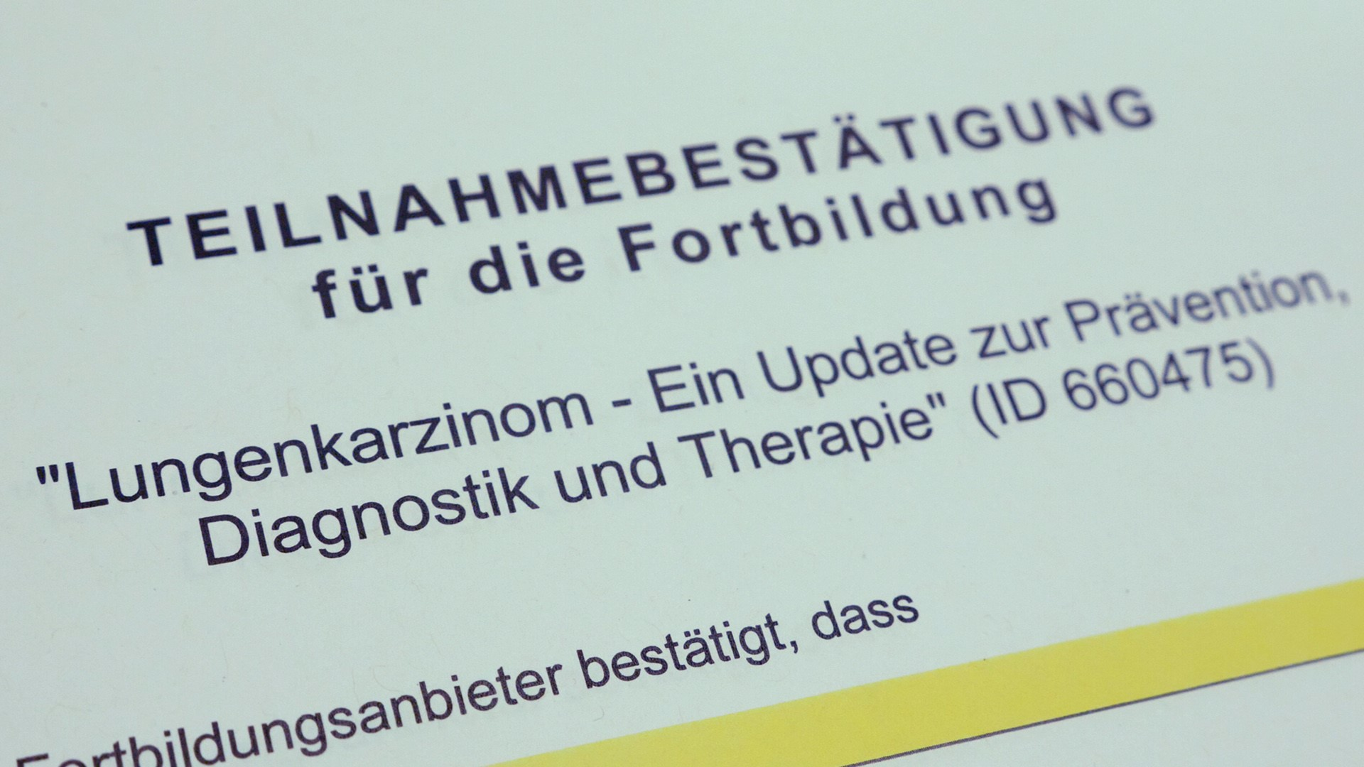 Lungenkarzinom: Ein Update zur Prävention, Diagnostik & Therapie - VIDEO