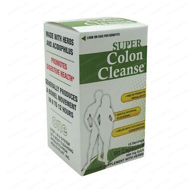 Super Colon Cleanse - 60 капсули