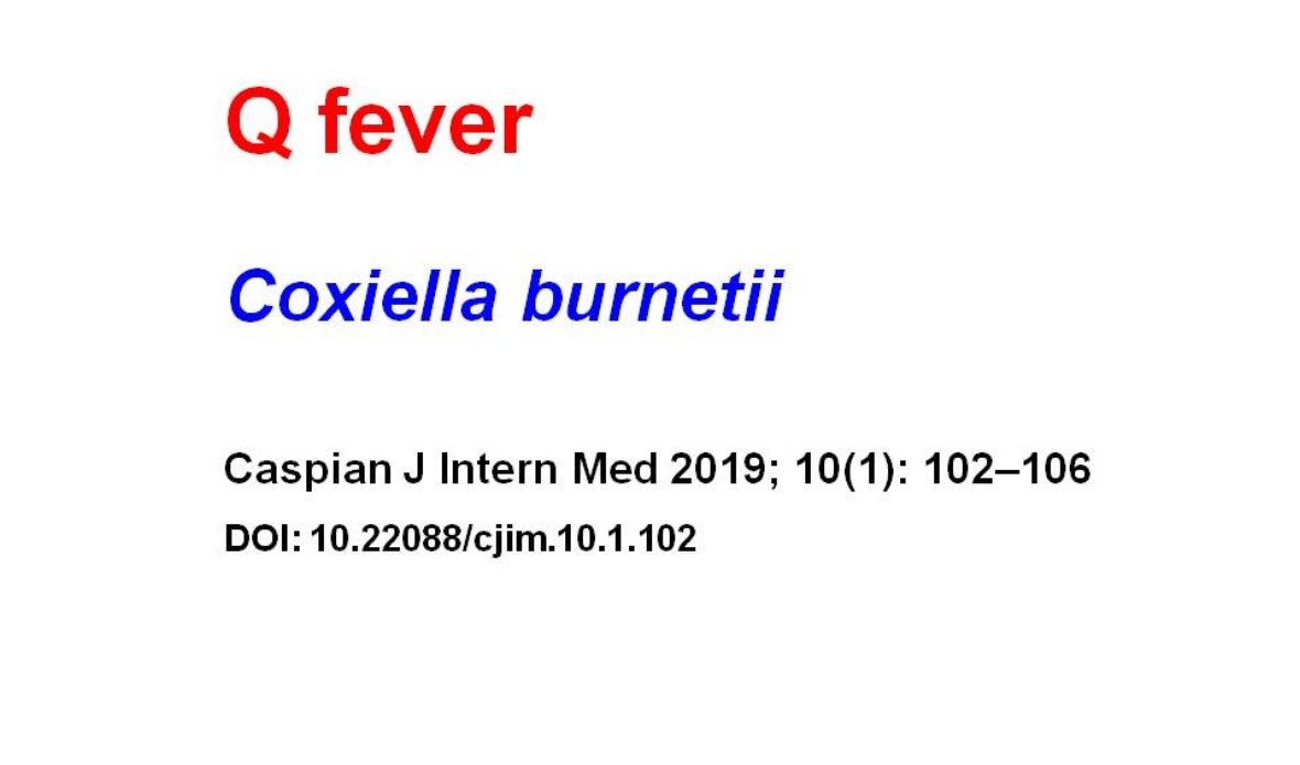 Fever of Unknown Origin and Q-fever: a Case Series in a Bulgarian Hospital