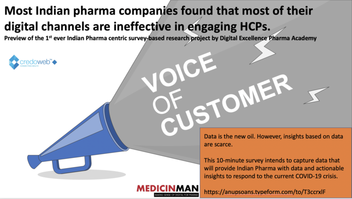 Preview of the 1st ever Indian Pharma centric survey-based research project by Digital Excellence Pharma Academy